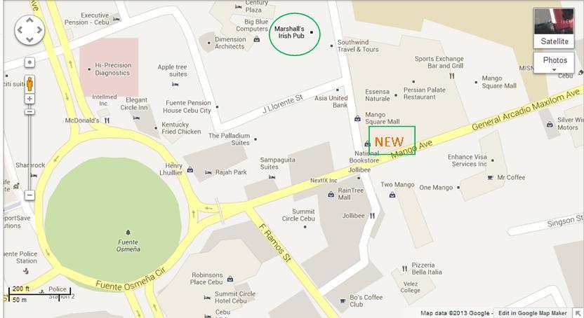 New Location Map For Marshall's Irish Pub